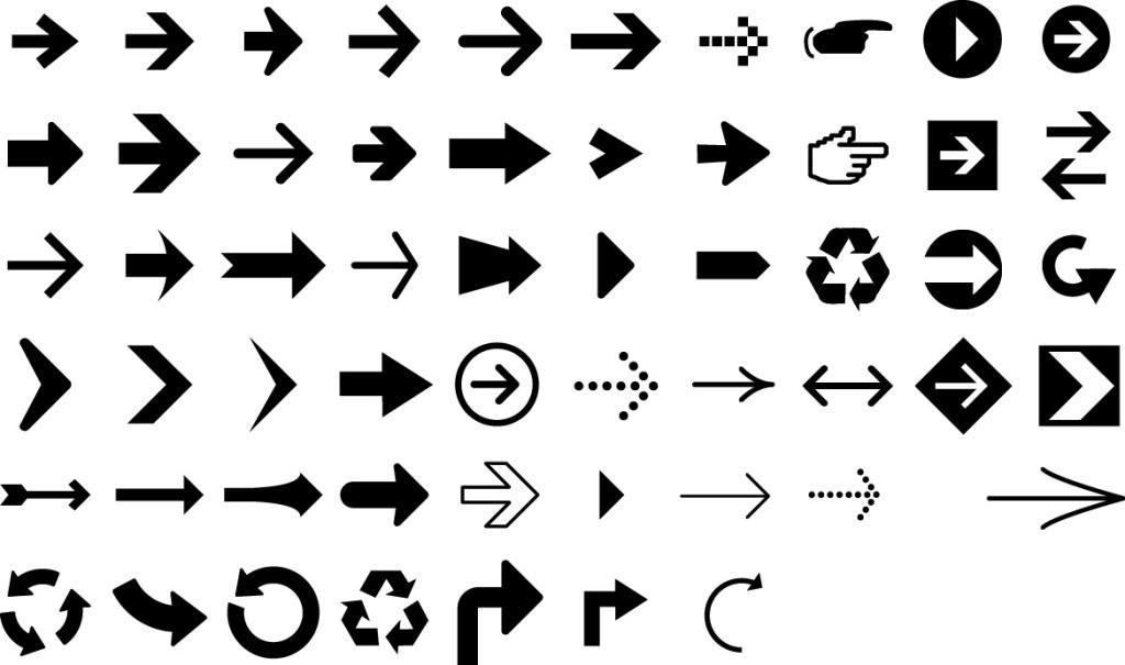 50多个箭头符号图标